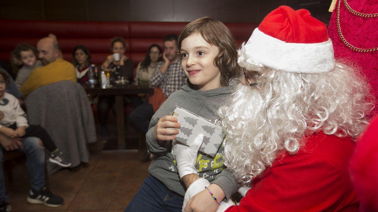 Papá Noel en A Bombonera de Carballo