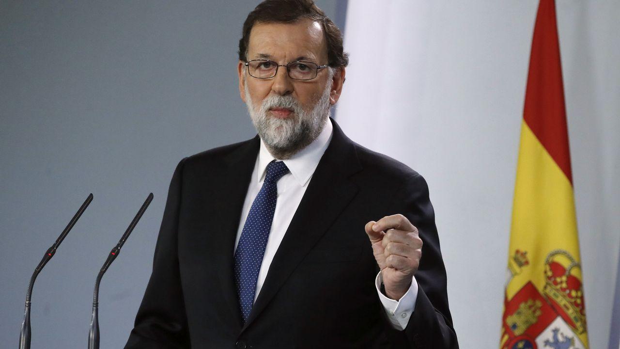 Rajoy plantea el cese de Puigdemont y todos sus consejeros y convocar elecciones en seis meses.