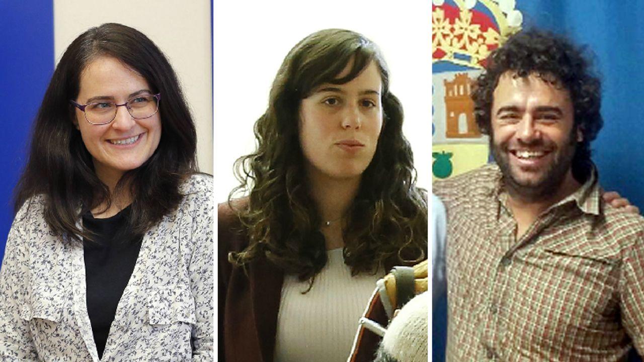 La Justicia gallega pide una salida a su conflicto.Paula Vázquez Verao, Paula Quinteiro y Davide Rodríguez, diputados de En Marea