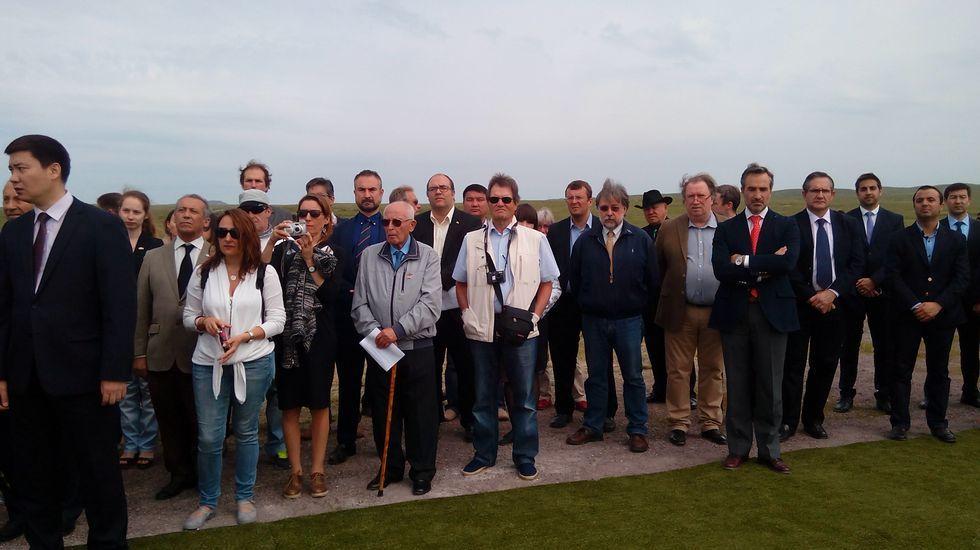 Familiares y representantes españoles presentes en Spassk.