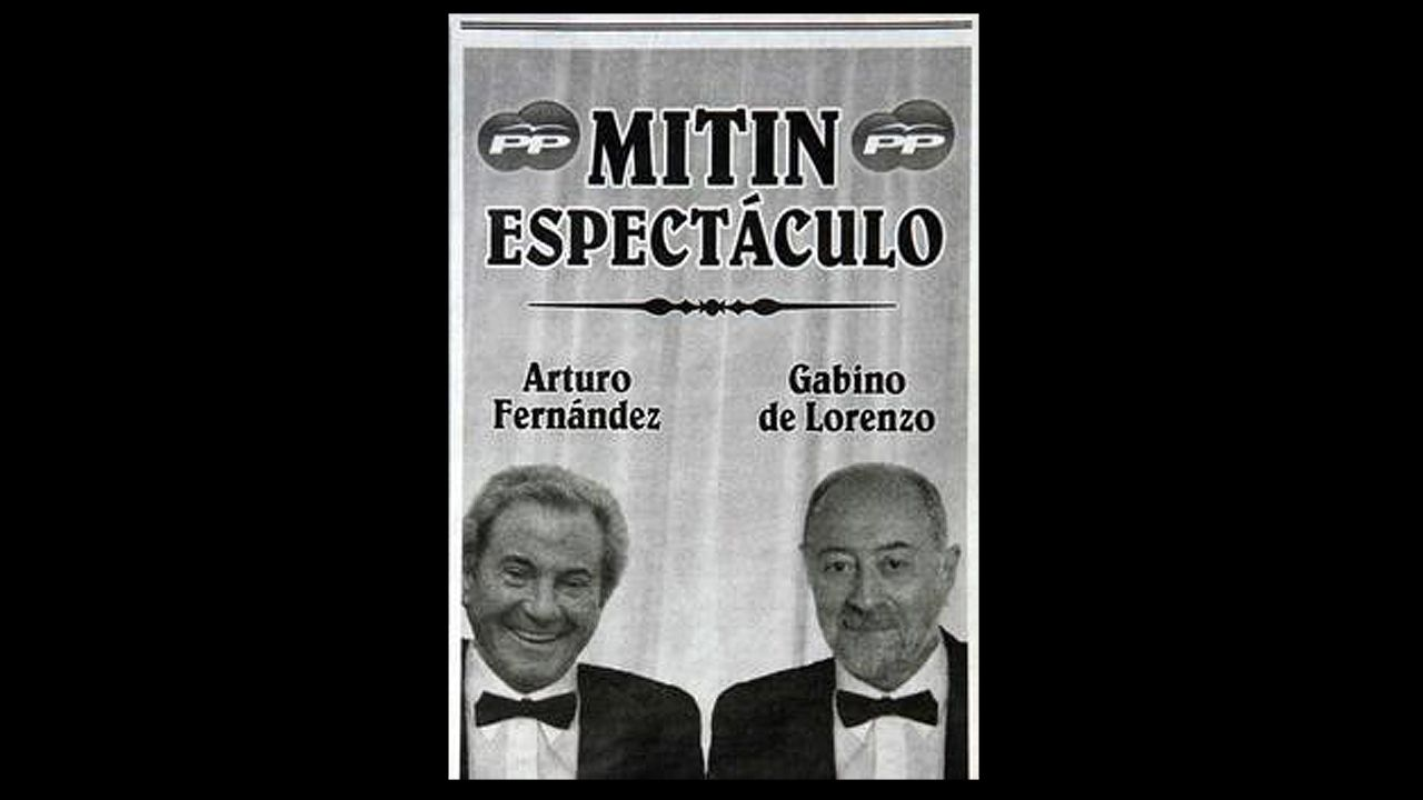 .El cartel del espectáculo de Gabino de Lorenzo y Arturo Fernández