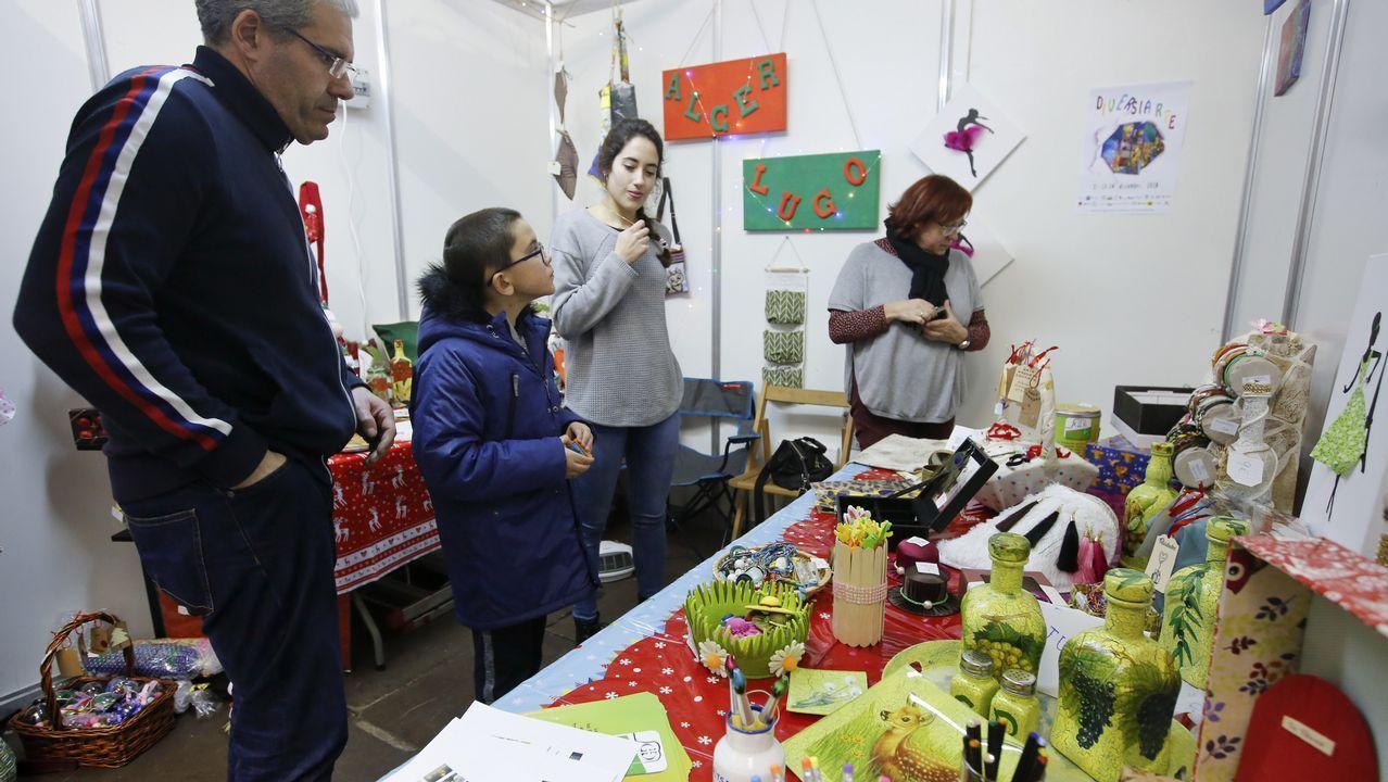 Monseiro, el pueblo de los siete murales.Actuación del mago Roberto Lolo en el 2016, dentro de las actividades de Nadal del Concello de Sarria