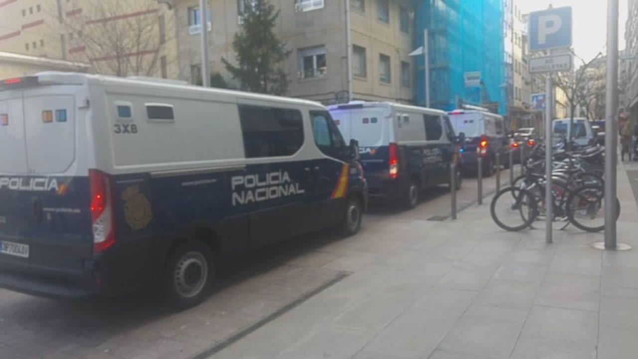 El traslado de David Pérez Lago y otros seis detenidos en la Operación Mito a la Audiencia Nacional