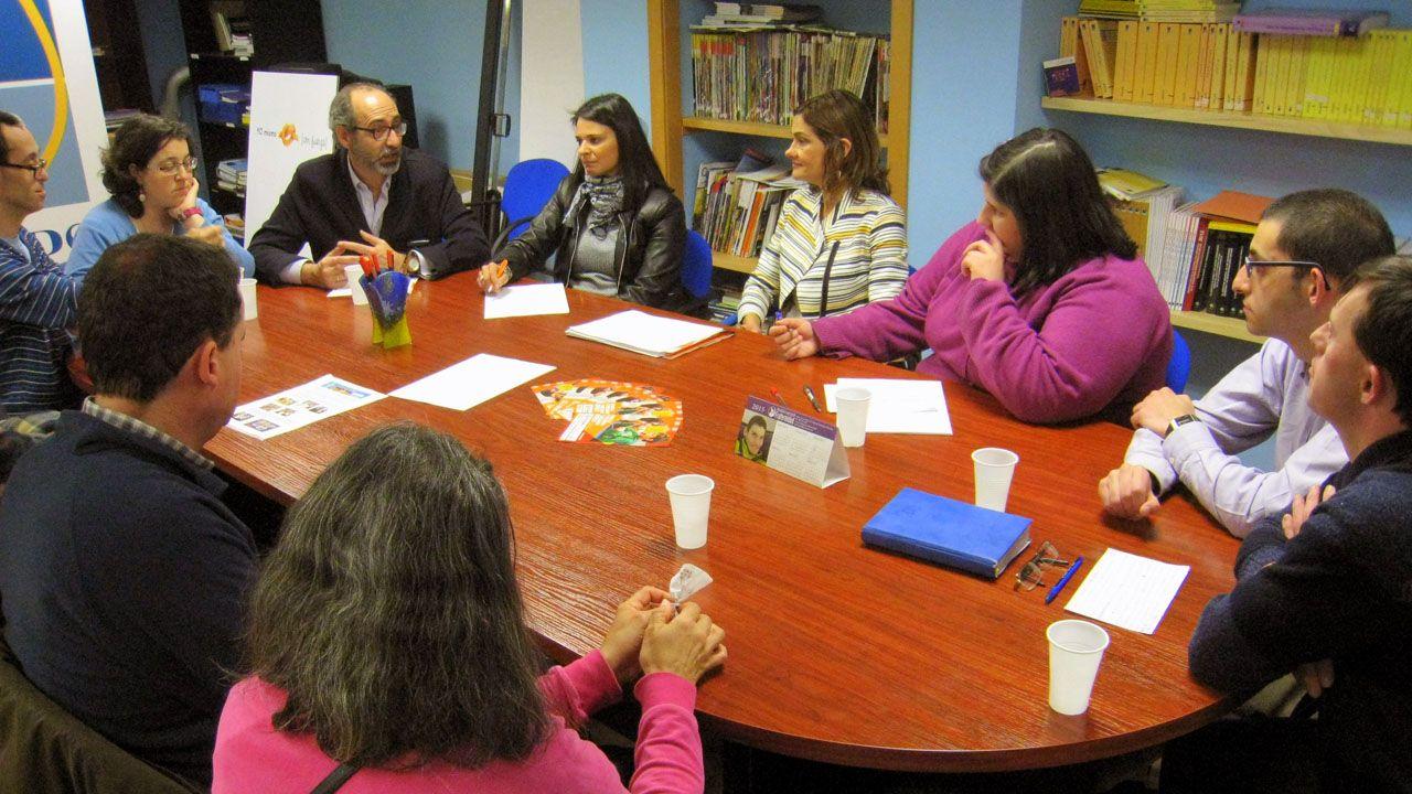 Plena inclusión con los partidos políticos.Casado y Moriyón