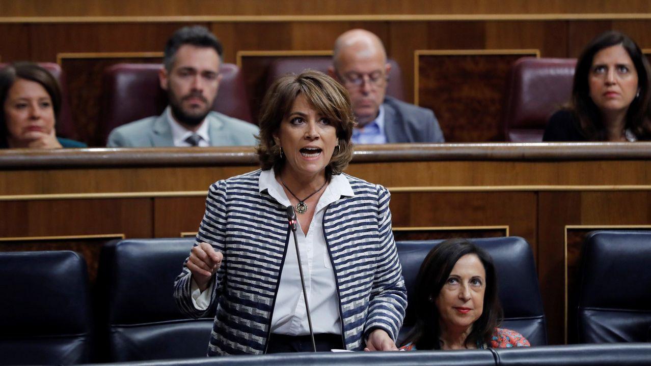 .La ministra de Justicia, Dolores Delgado, en una de sus intervenciones en el Congreso