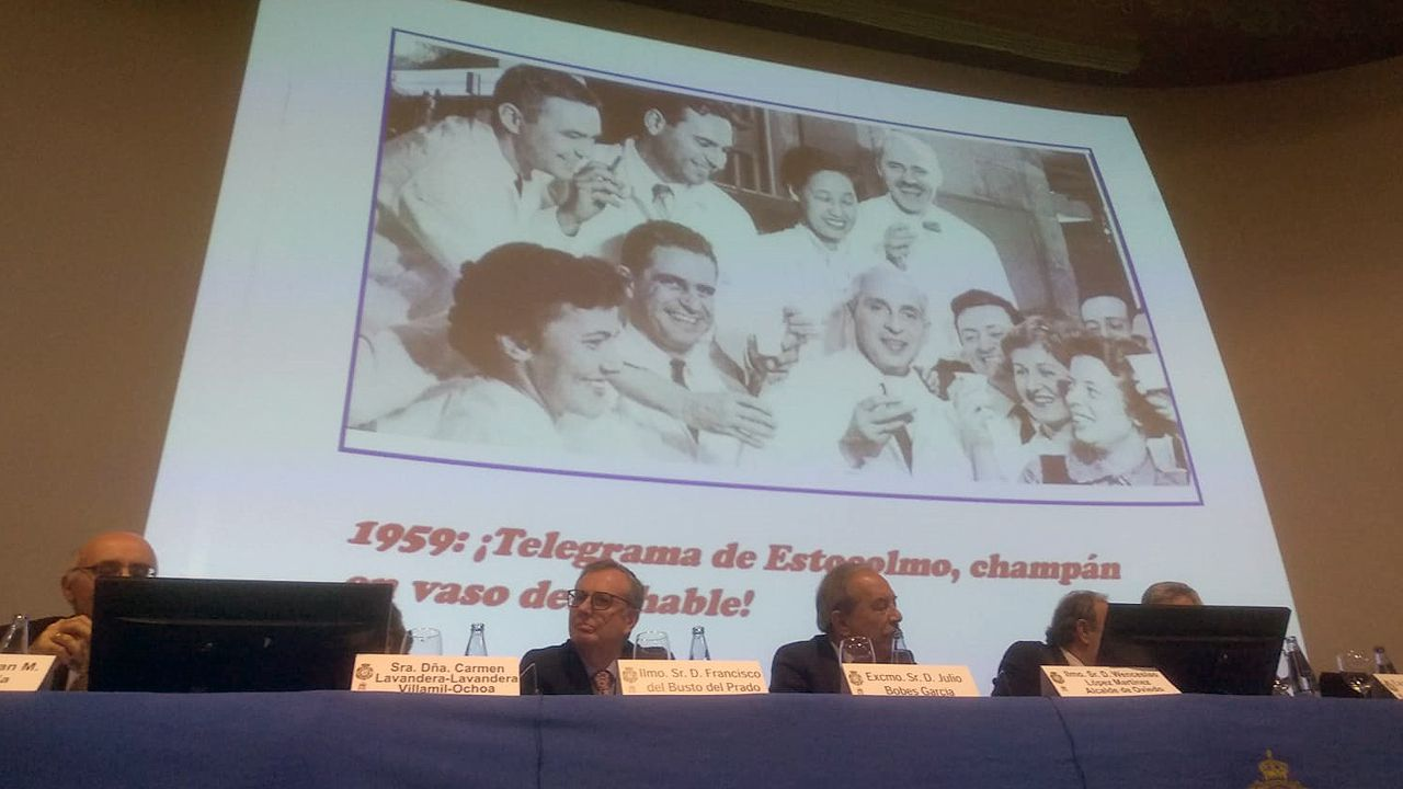 Homenaje a Severo Ochoa.Universidad de Oviedo