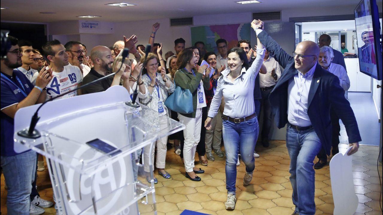 Feijoo, en un encuentro con afiliados en Allariz.El líder del PP, Pablo Casado, en Oviedo donde presentó públicamente a la candidata popular a la Presidencia del Principado, Teresa Mallada, expresidenta de Hunosa