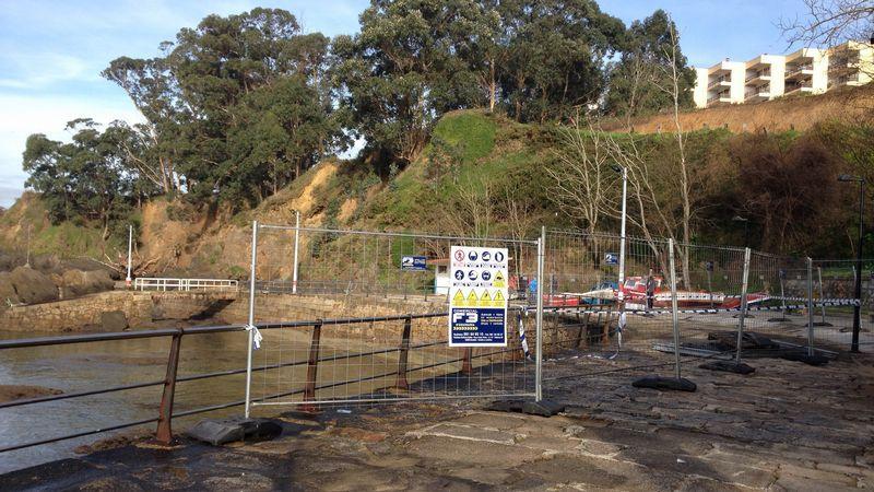 El paseo de peatones en el muelle de Santa Cruz está restringido en la parte más próxima al mar