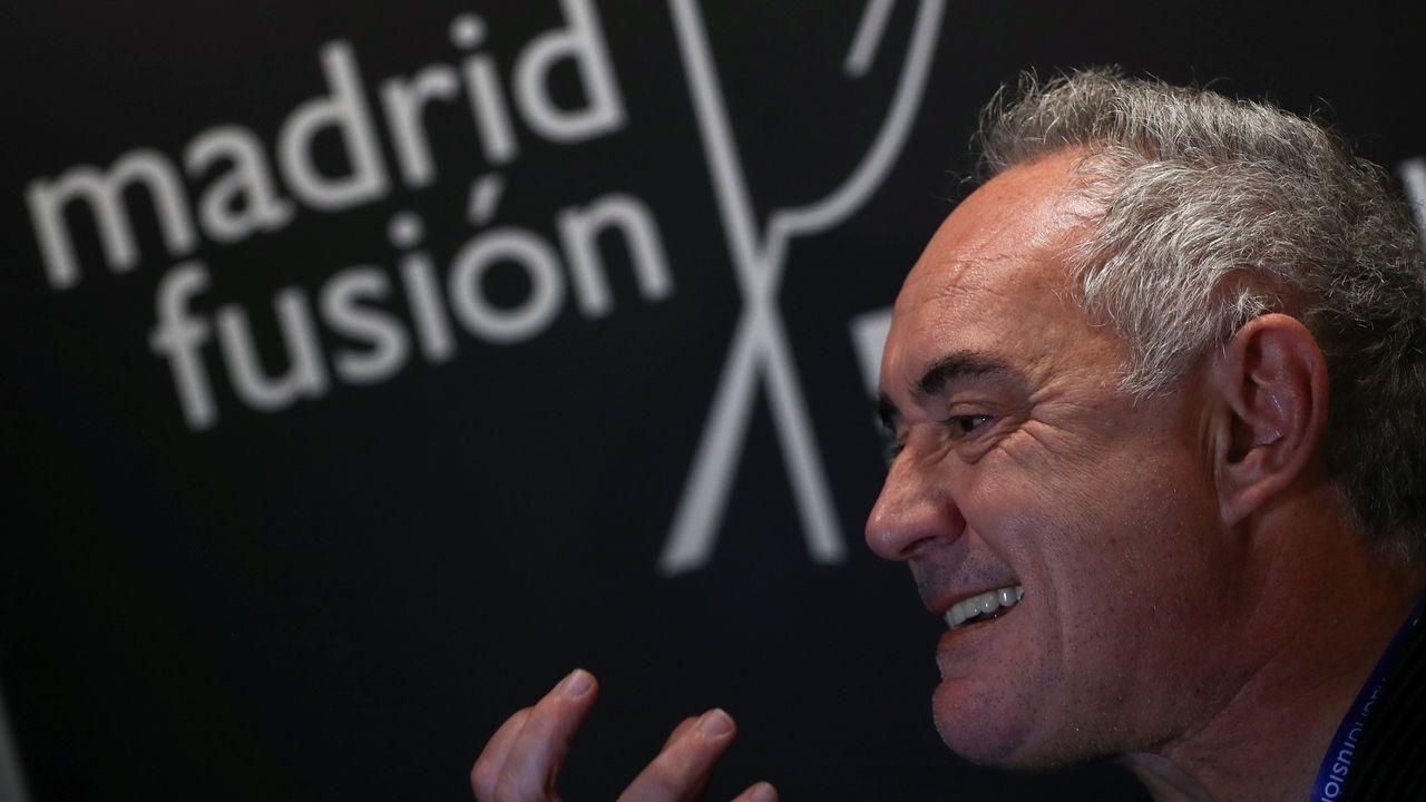 Spanish chef Ferran Adria gestures backstage at Madrid Fusion gastronomic fair in Madrid, Spain January 28, 2019.