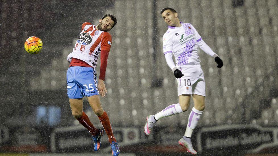 .Julio Álvarez, durante un partido en Lugo
