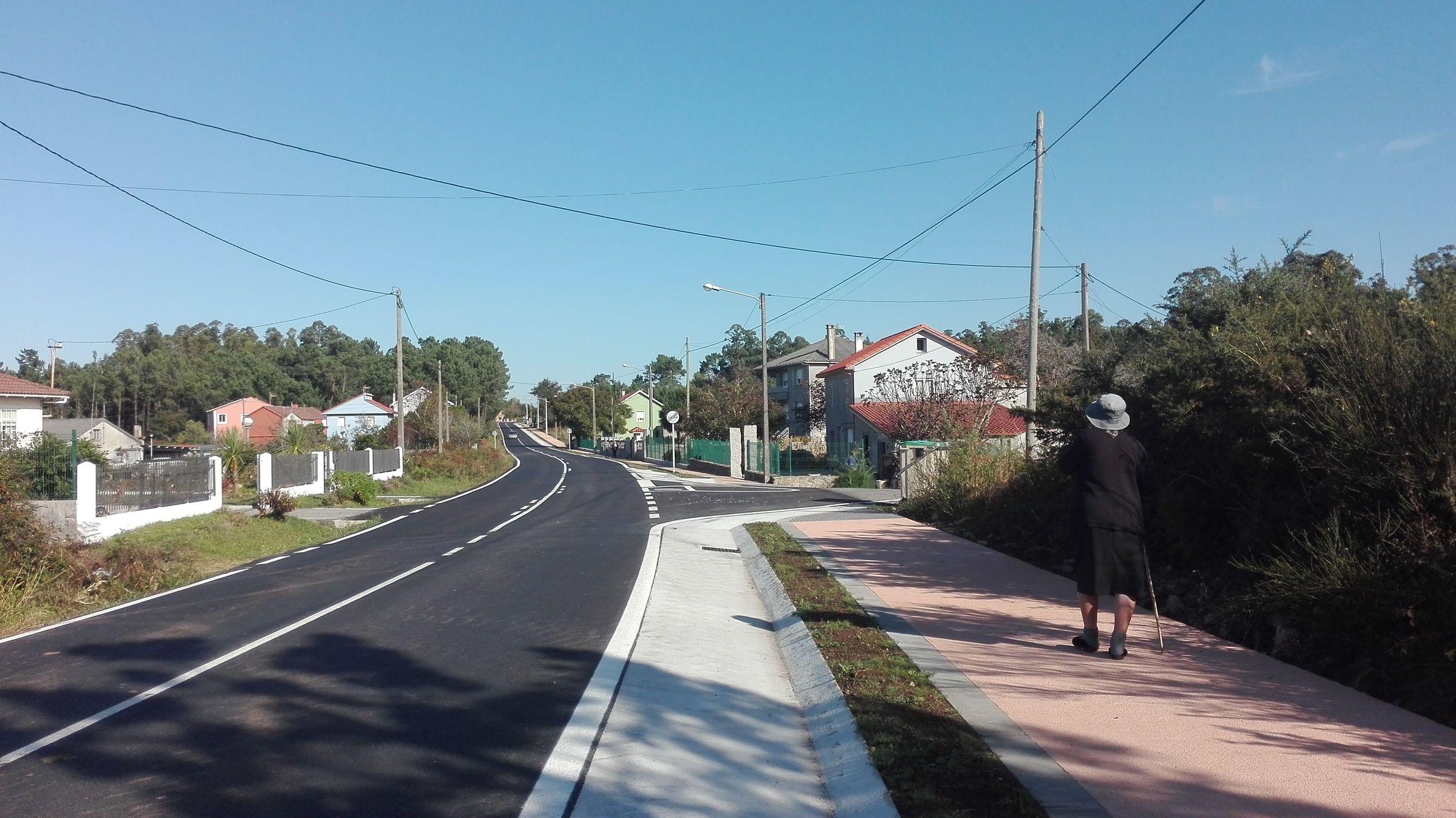 Senda peatonal entre Xornes y Buño, en Malpica