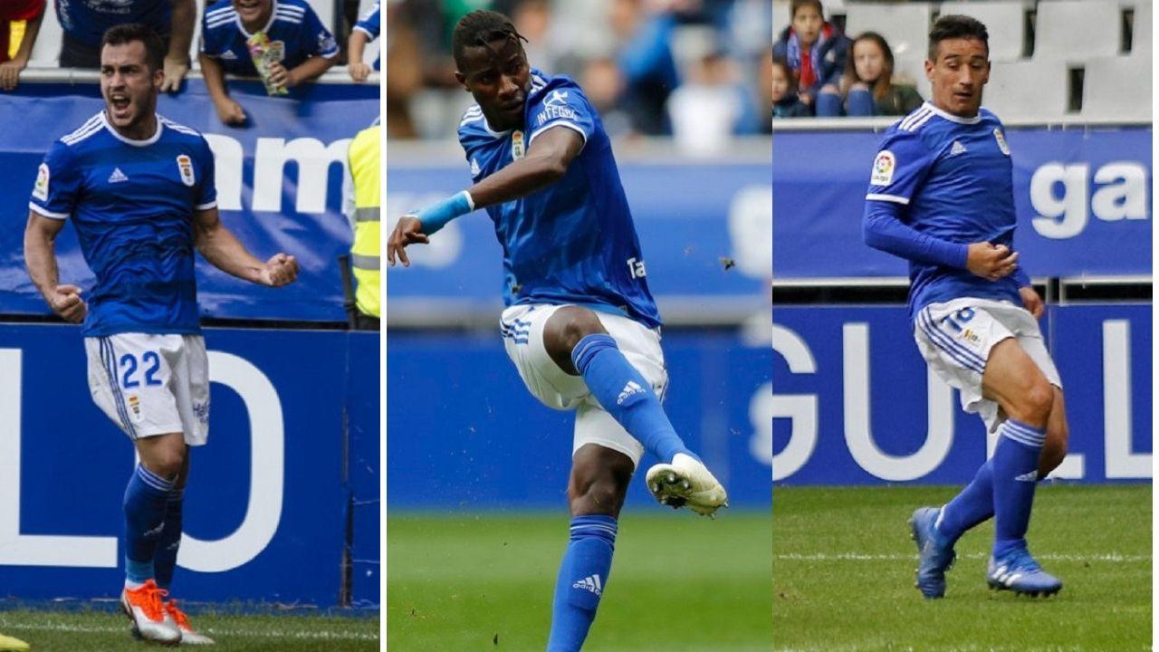 Gol Yoel Barcenas Real Oviedo Reus Carlos Tartiere.Joselu, Ibra y Saúl Berjón