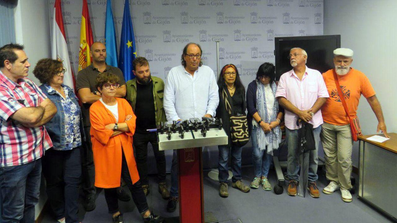 .Representantes de las ONGs y Mario del Fueyo, en una comparecencia