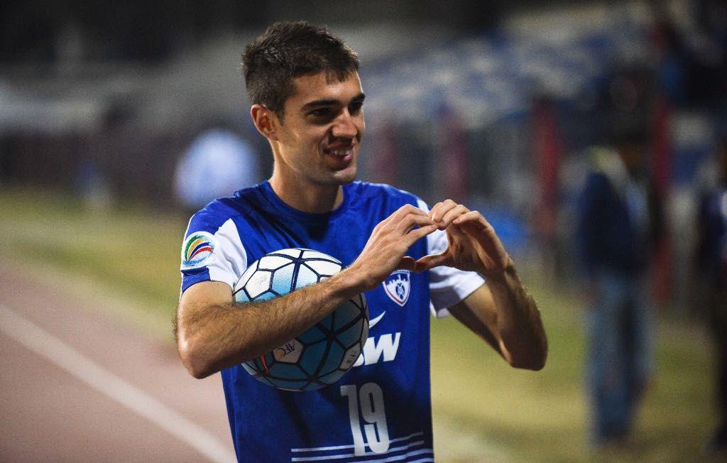 .En su primera temporada en la India, Dovale ya ha competido en la AFC Cup asiática