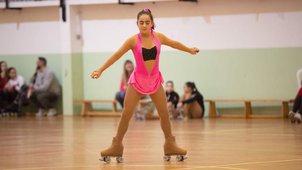 ¡Mira las espectaculares imágenes de la primera fase de niveles de patinaje artístico en A Laracha!