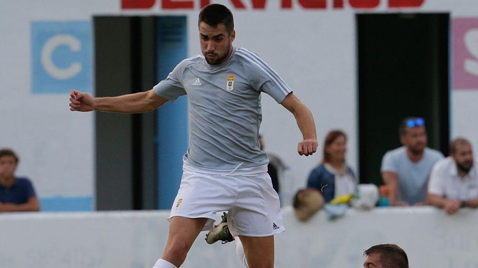 Diegui Johannesson en el partido de pretemporada frente al Valladolid