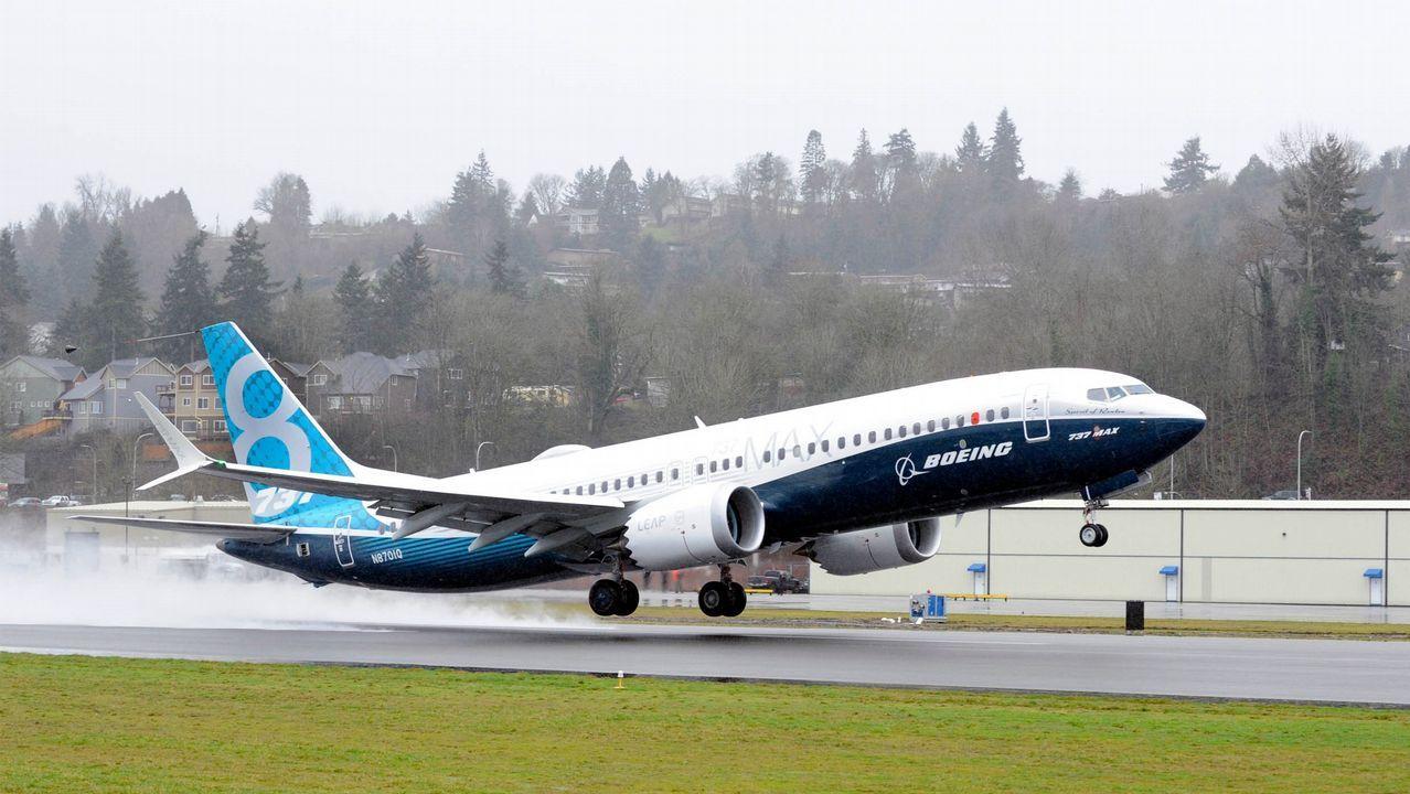 Imagen de un Boeing 737 Max