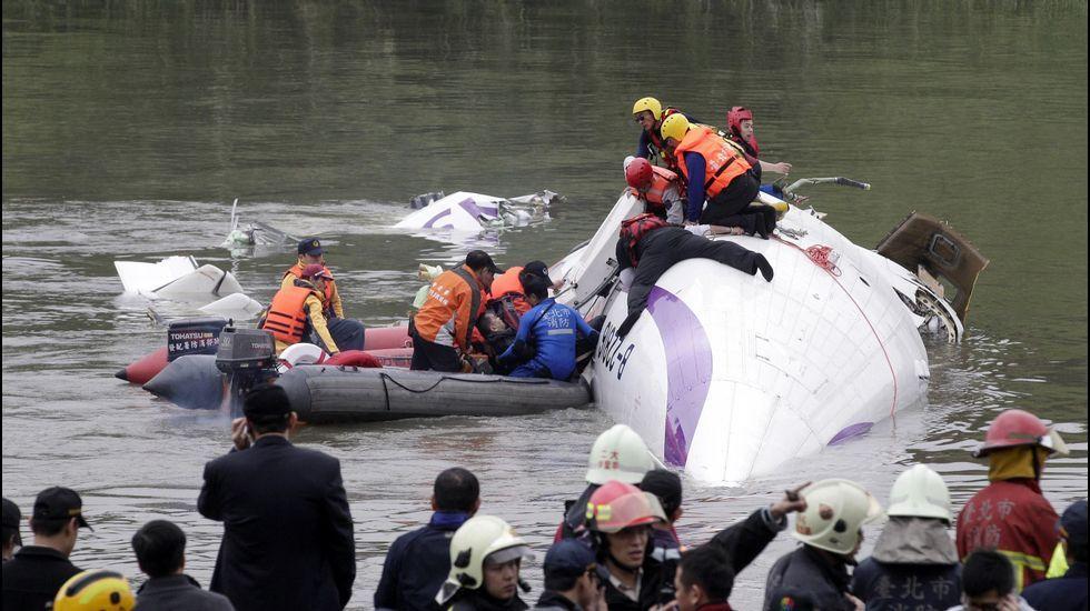 Accidente de avión en Taipei