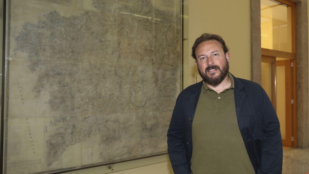 Feijoo se resiste a revelar su futuro y se remite a la sesión del día 20 en el Parlamento de Galicia.Álvarez, onte no Parlamento galego, durante a súa comparecencia na comisión de Cultura