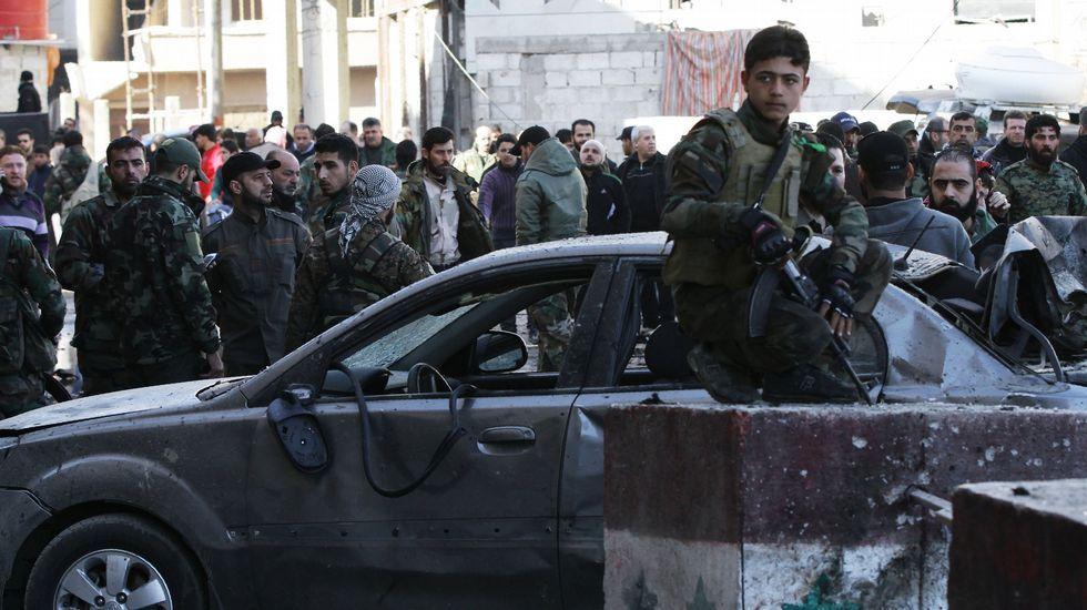 Así está ahora Palmira.Niños de Daraya forman un SOS durante la manifestación para pedir la entrada de ayuda, imagen que el consejo municipal colgó en Internet