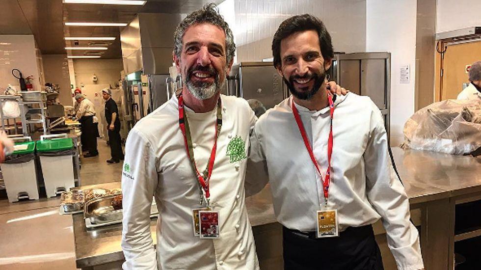 Pepe Solla y Rajoy, juntos en Bruselas.Buque Galicia de la Armada, en el puerto de Vigo