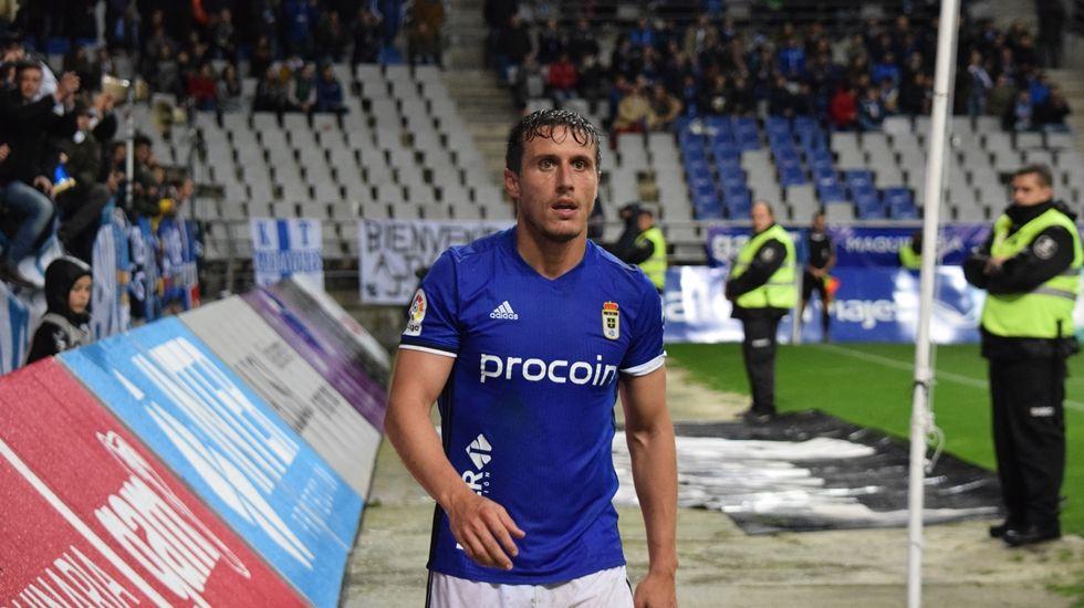 Christian Fernández en el partido frente al Levante