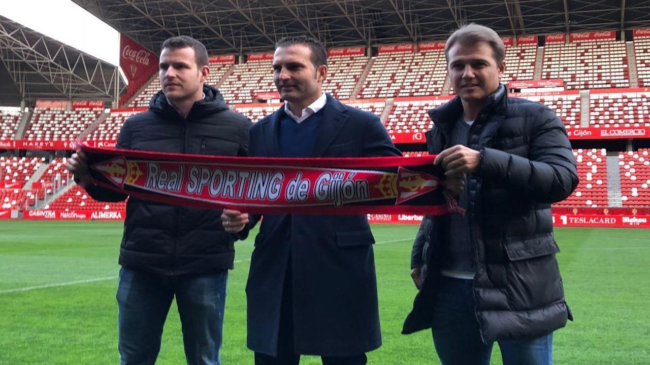 Joser Ramón (i), Rubén Baraja (c) y Manuel Poblaciones (d)