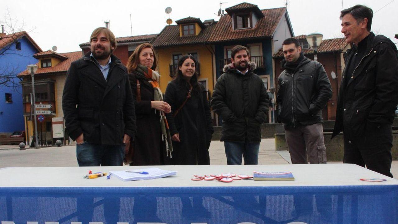 Recogida de firmas de Podemos por la supresión del peaje del Huerna