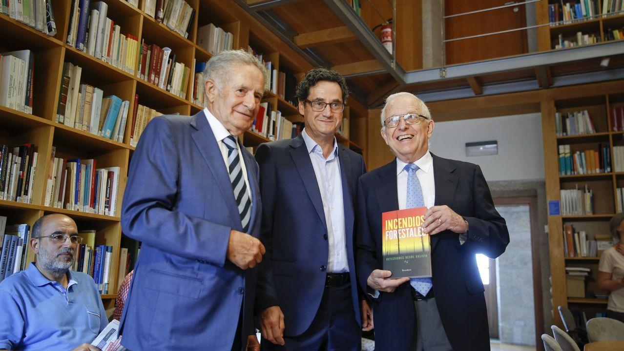 .De izquierda a derecha, Rodríguez Iglesias, Tomás Fernández-Couto y Francisco Díaz-Fierros
