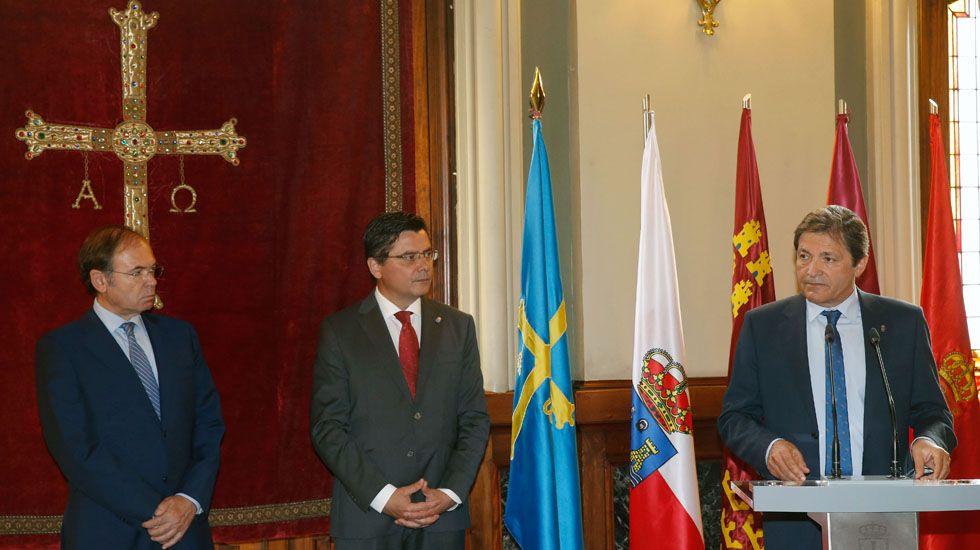 Pío García Escudero, Pedro Sanjurjo y Javier Fernández