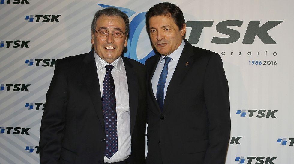 El presidente de la Federación Asturiana de Empresarios (Fade), Pedro Luis Fernández.Sabino García Vallina y Javier Fernández