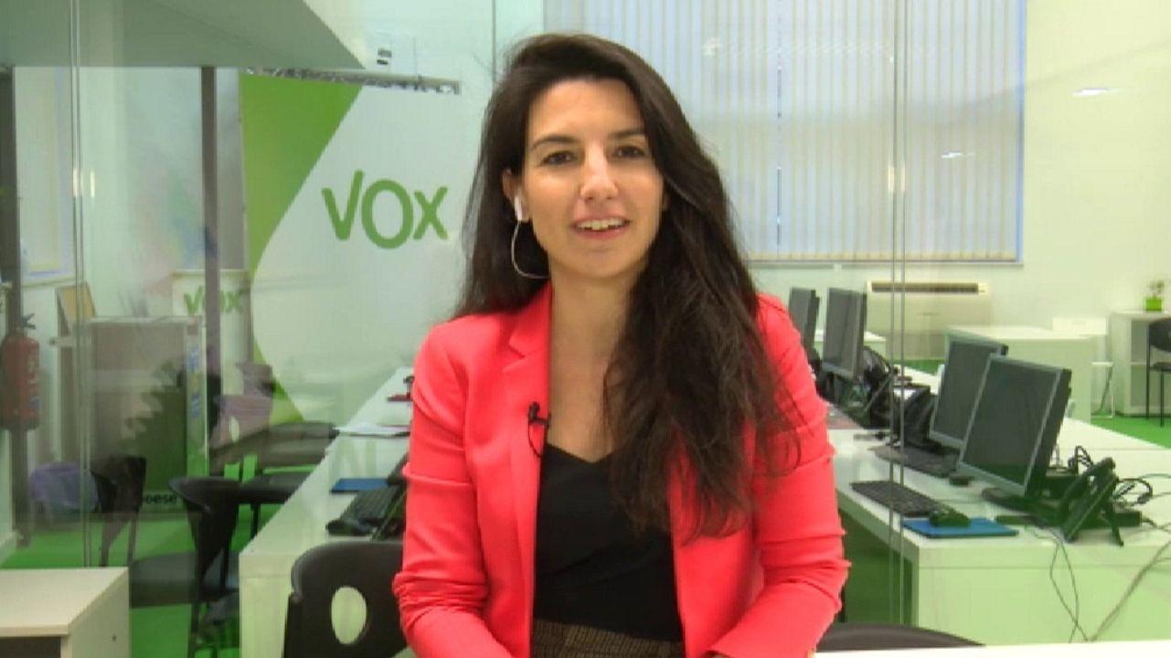 Rocío Monasterio (Vox): «Yo votaba al PP, se deja igual que la droga».Pablo Casado y Mercedes Fernández