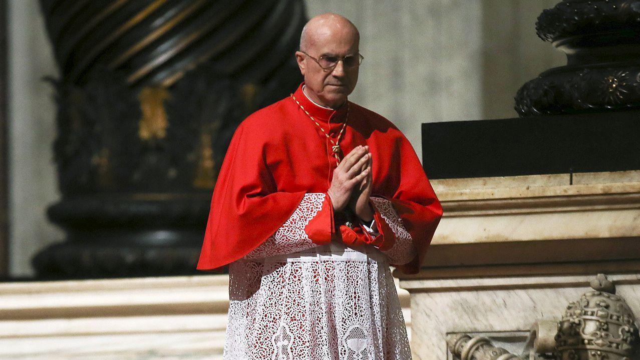 El gigante King Kong ruge con acento de Cedeira.El cardenal Tarcisio Bertone, durante una celebración litúrgica en la Semana Santa del 2016