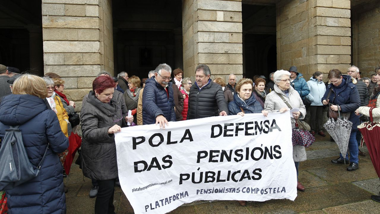 Concentración de Jubilados en el Obradoiro.