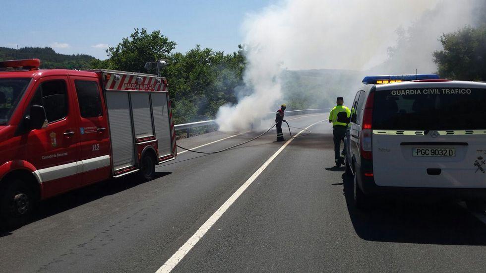 El incendio en el Val do Neira en imágenes.Luís Villares, en Ourense
