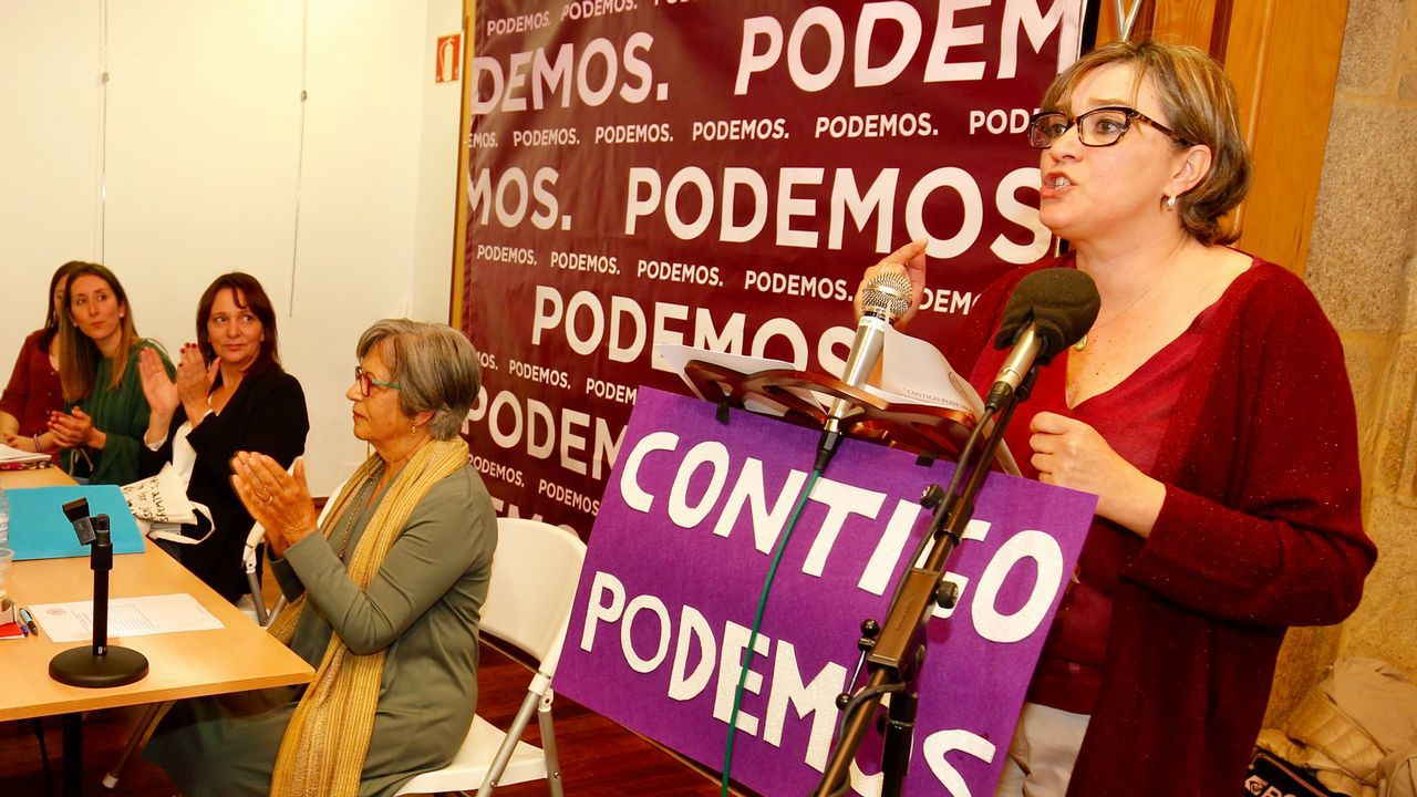 Bescansa aplaude a la candidata en Ames, Gemma Otero