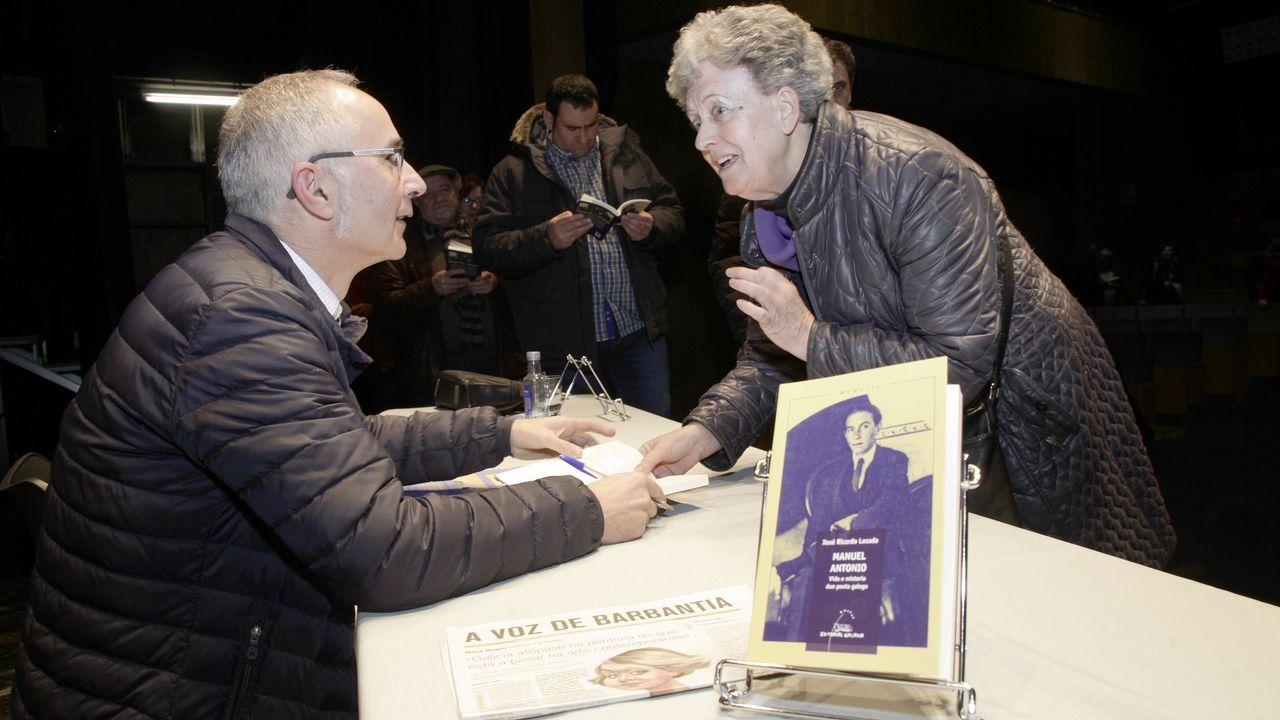 ¡Búscate no acto de Barbantia de Rianxo!.Flavio  Morgatti y José Manuel Mallón