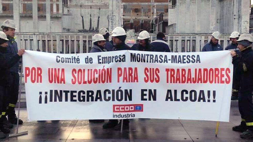 Protesta de los trabajadores de Montrasa.Protesta de los trabajadores de Montrasa