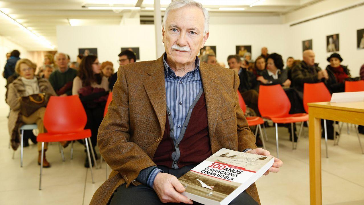 Las imágenes del paso de Hugo por Galicia.La terminal de Lavacolla alcanza un nuevo récord