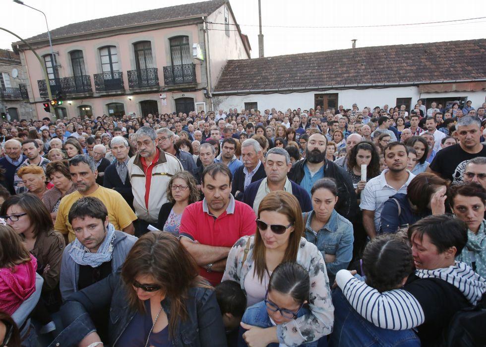 Las concentraciones por el crimen de Moraña del pasado viernes resultaron muy emotivas.