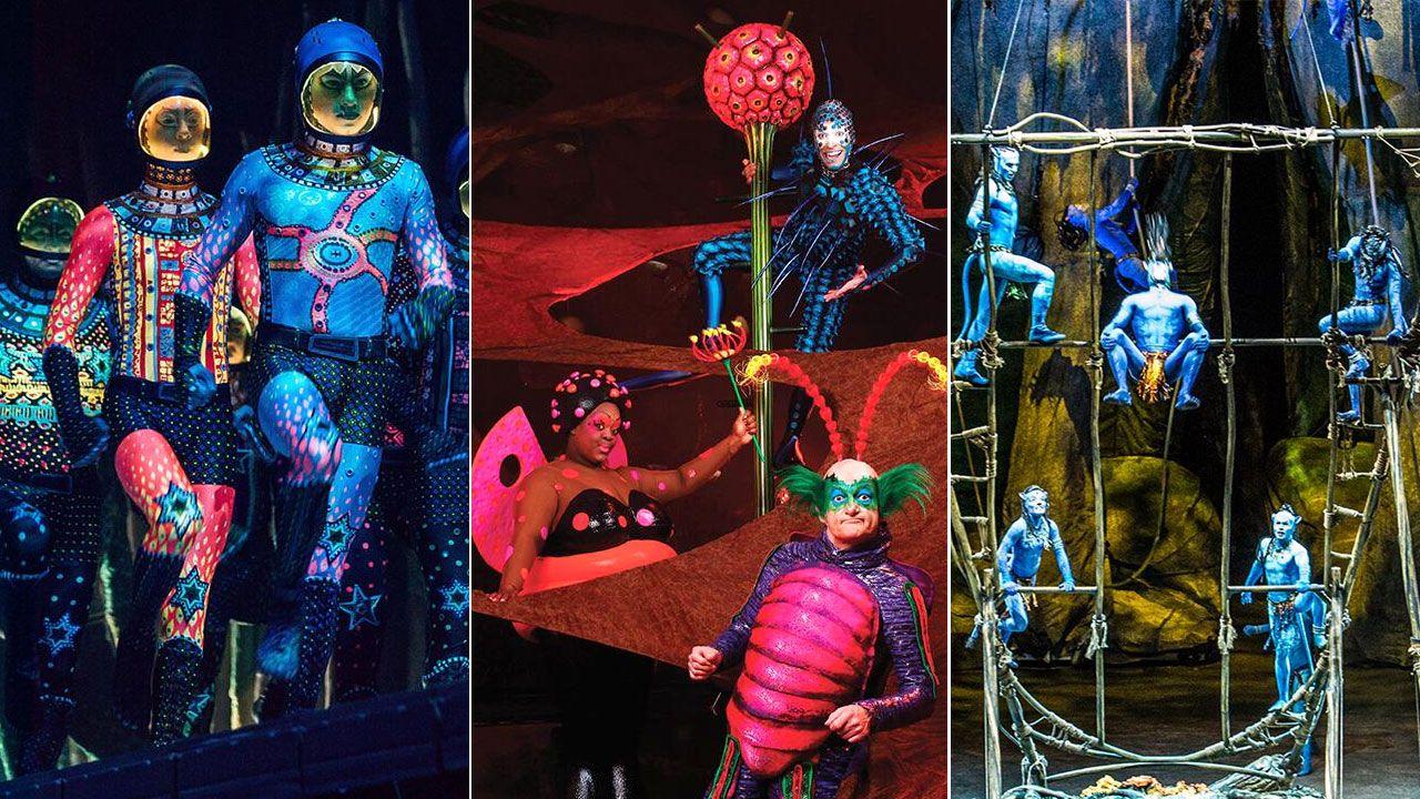 Lidl en la calle de Pérez de Ayala, en Gijón.Imágenes de los espectáculos «Totem», «Ovo» y «Toruk: el último vuelo», del Cirque du Soleil