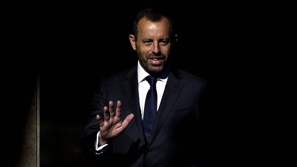 .El expresidente del Barcelona Sandro Rosell, a su llegada esta mañana a la Audiencia Nacional para responder a las preguntas del juez Pablo Ruz