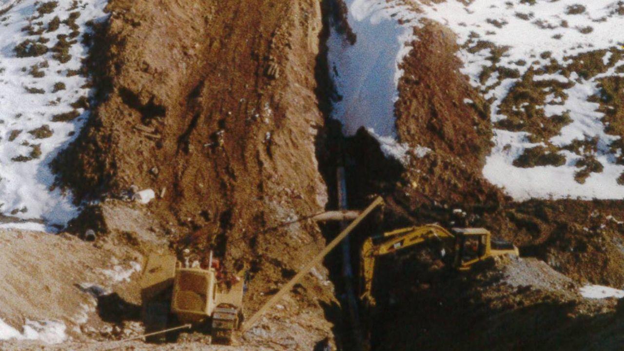 Construcción del gasoducto en 1998