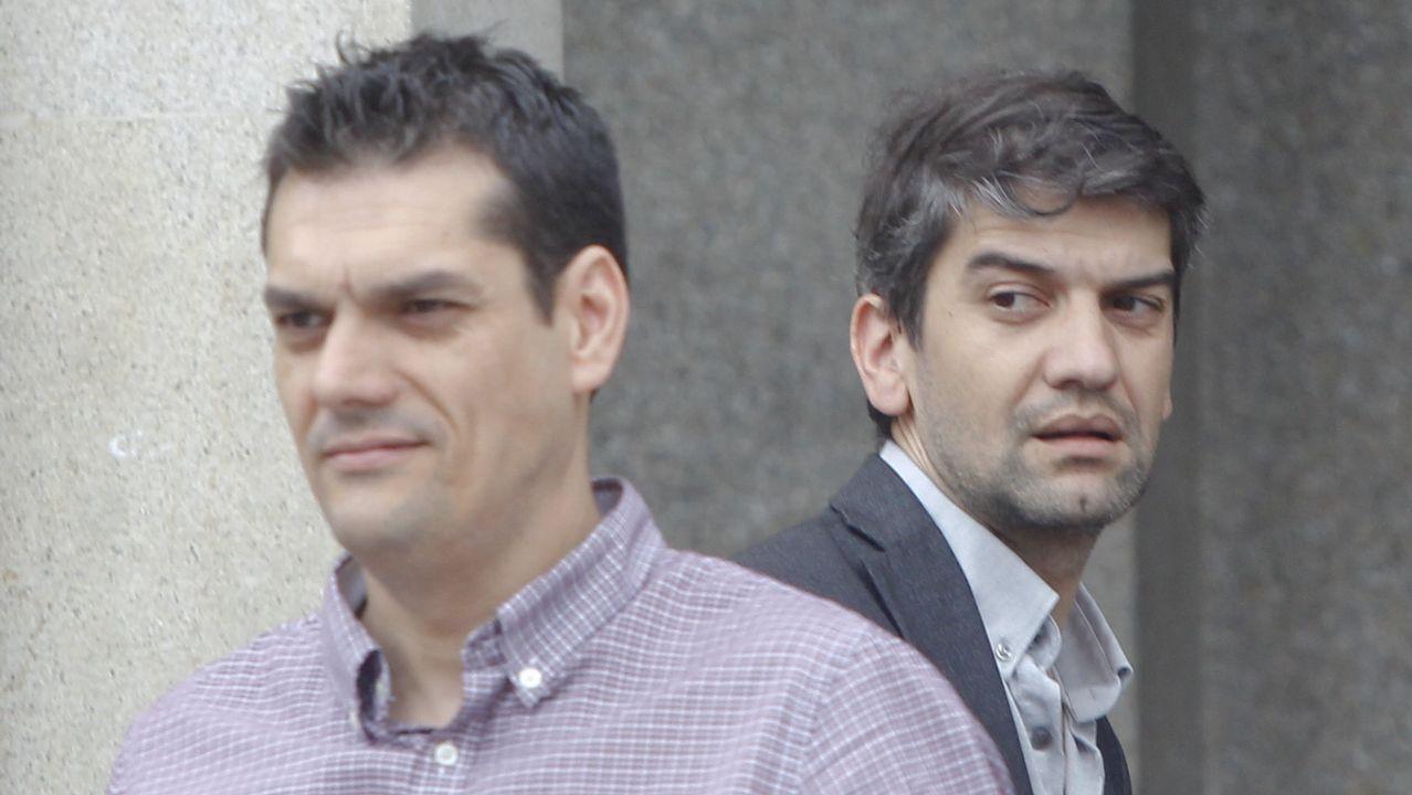 Rueda de prensa de María Jesús Rodríguez, Begoña Conde, y Víctor Rodríguez (Vox).Elvira Otero Oubiña, madre lactante a la que negaron la ausencia en una mesa electoral