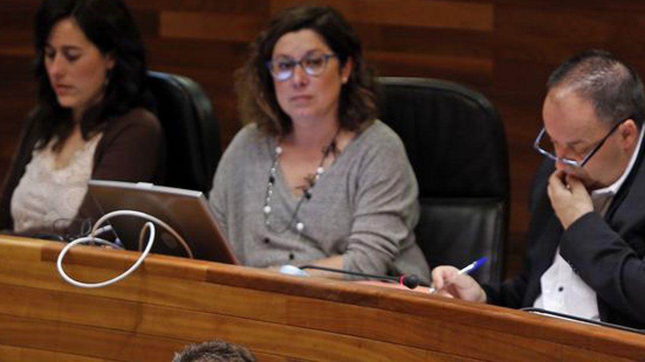 La Junta General acoge la capilla ardiente de Areces.Carmen Eva Pérez Ordieres