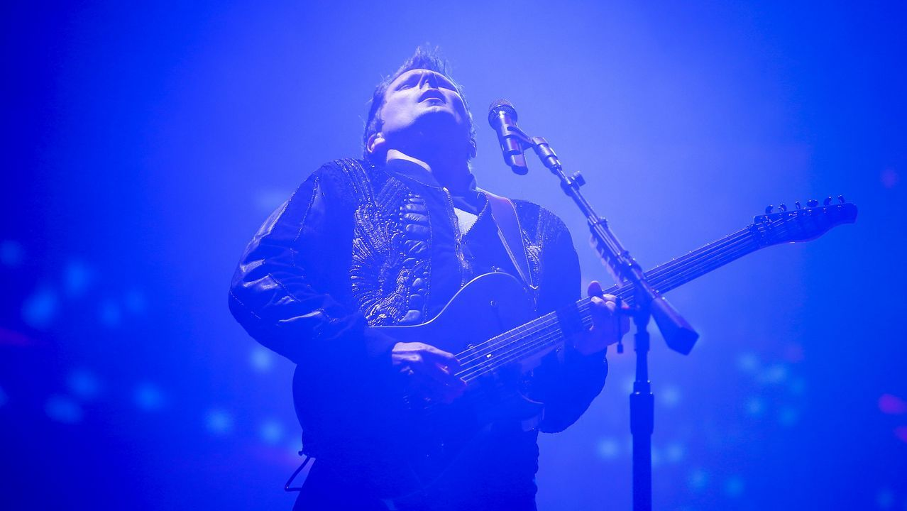 Matthew Bellamy, de Muse, durante concierto en el Rock in Rio Lisboa 2018