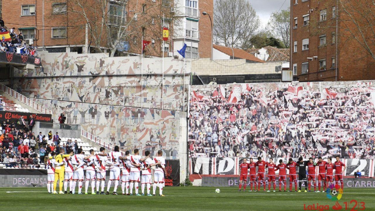 .Rayo y Zaragoza antes del encuentro de la última jornada