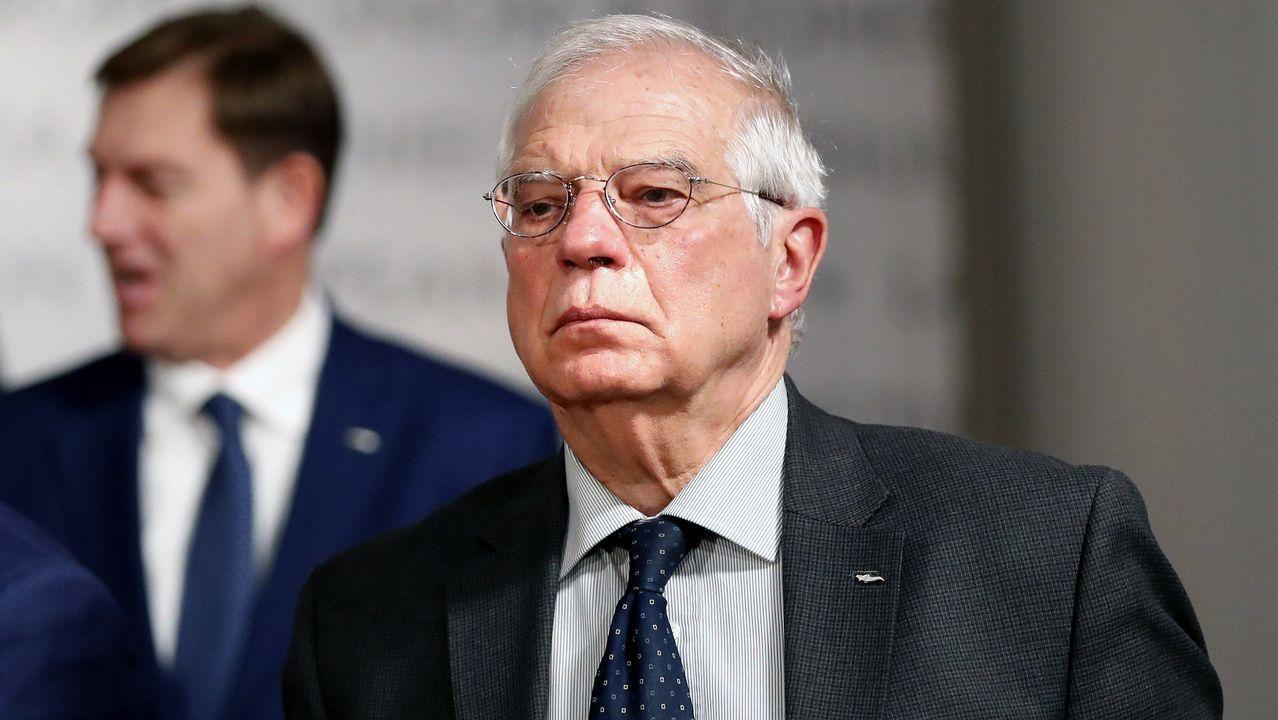 Gonzalez Pons sobre su expulsión de Venezuela: «¿Íbamos a dejar de ir porque un  bandido  dijera que iba a impedir nuestra entrada?».Josep Borrell, durante la reunión de ministros de Exteriores de la UE en Bucarest (Rumanía)