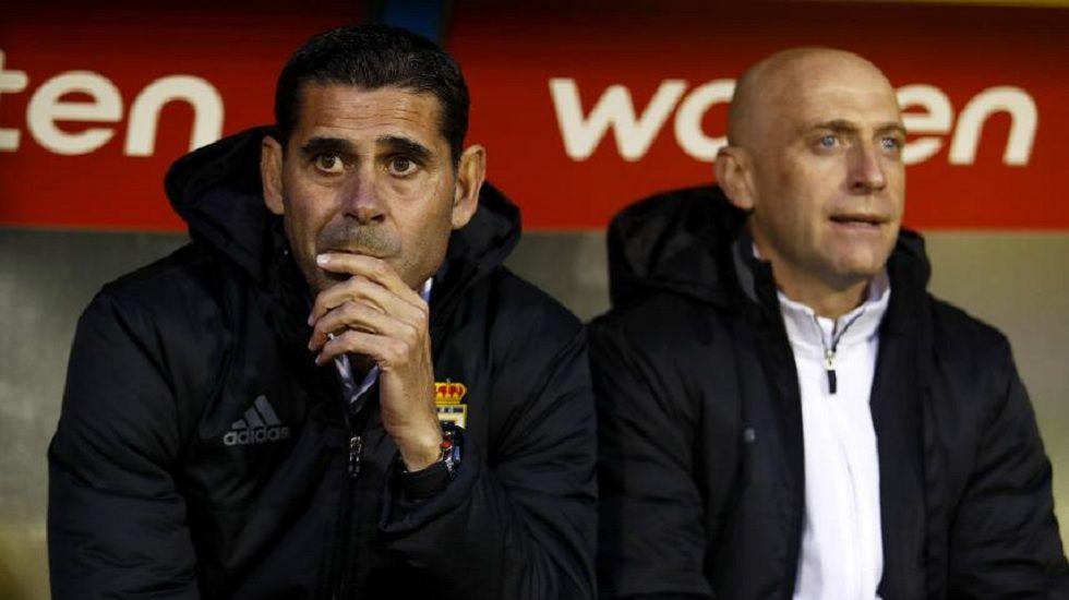 Fernando hierro junto a Julián Calero
