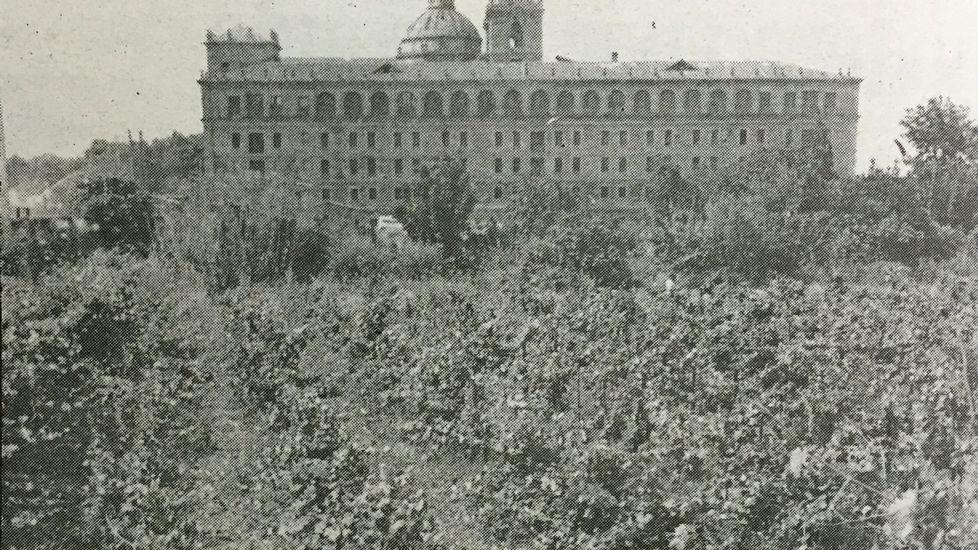 Antigua huerta del colegio, en los terrenos que hoy ocupa el Parque dos Condes